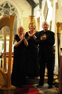Photo: Harp Ensemble: Helen Barley, Eleri Lloyd & David Watkins